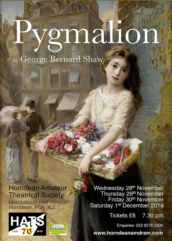 Poster for our production of Pygmalion